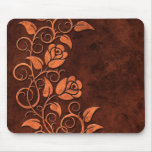 Swirling Stone Roses Mouse Mat