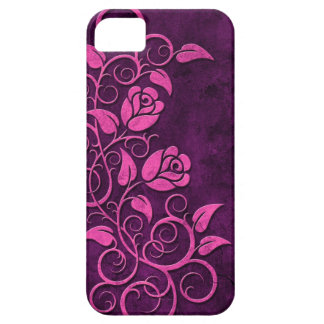 Swirling Stone Roses, purple iPhone 5 Covers