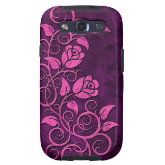 Swirling Stone Roses, purple Samsung Galaxy SIII Cover