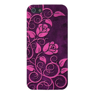 Swirling Stone Roses, purple Case For iPhone 5