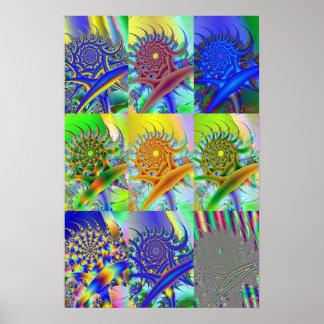 Swirling Thru Space Poster
