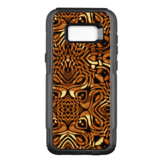 Swirling Tribal Pattern of Gold OtterBox Commuter Samsung Galaxy S8+ Case
