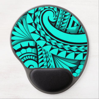 Swirling tribal patterns triangles in Polyart Gel Mouse Pad