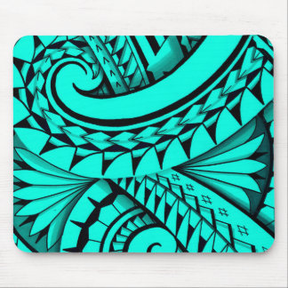 Swirling tribal patterns triangles in Polyart Mouse Pad
