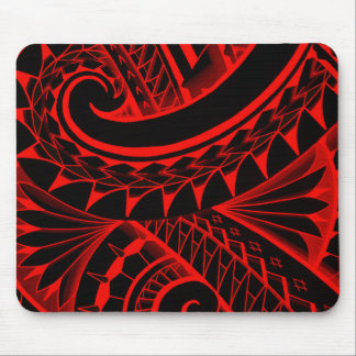 swirling tribal polynesian tatoos in bright colors mouse pad