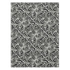 Swirling vintage Japanese abstract in black white Tablecloth