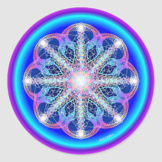 Swirling Vortex of Attraction Round Sticker