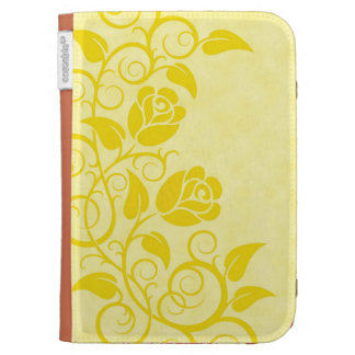 Swirling Yellow Roses Kindle 3G Case