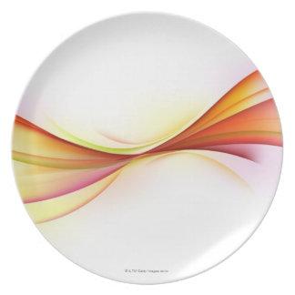 Swirls 2 party plates