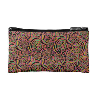 Swirls and Circles Makeup Bag