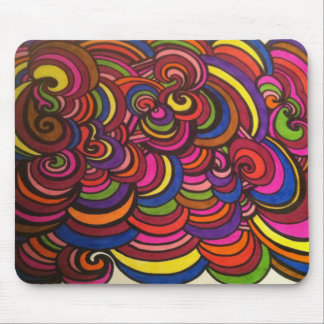 SWIRLS and COLORFUL LAYERS! Mouse Mat