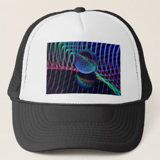 Swirls and lines in the glass ball trucker hat