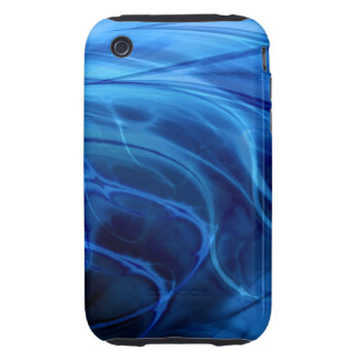 Swirls Blue iPhone 3 Tough Covers