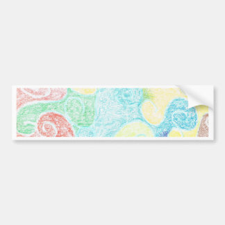 SWIRLS BUMPER STICKER