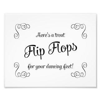 Swirls Flip Flops Treat Dancing Feet Wedding Sign Photo