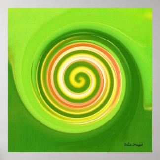 Swirls in earth tones - poster / print
