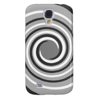 Swirls in Gray and White. Spiral Design. Galaxy S4 Case