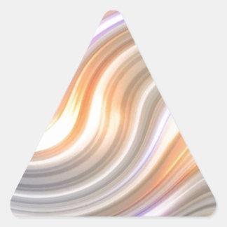 Swirls in Motion Triangle Sticker