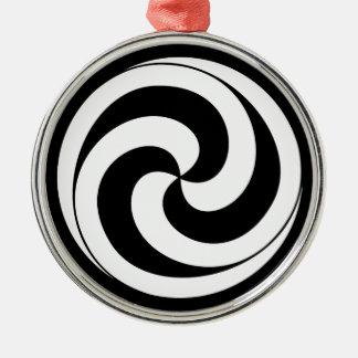 Swirls in shape of ball christmas ornament