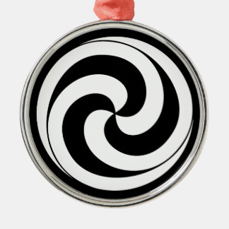 Swirls in shape of ball Silver-Colored round decoration