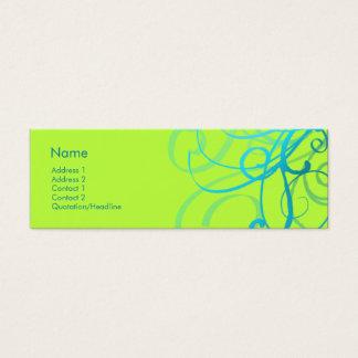 Swirls No. 0001 Mini Business Card
