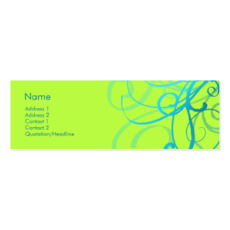 Swirls No. 0001 Pack Of Skinny Business Cards