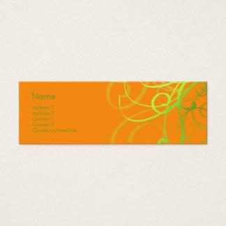 Swirls No. 0002 Mini Business Card