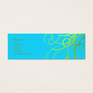Swirls No. 0004 Mini Business Card