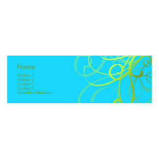 Swirls No. 0004 Pack Of Skinny Business Cards