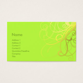 Swirls No. 0006 Business Card