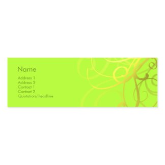 Swirls No. 0006 Double-Sided Mini Business Cards (Pack Of 20)