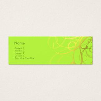 Swirls No. 0006 Mini Business Card