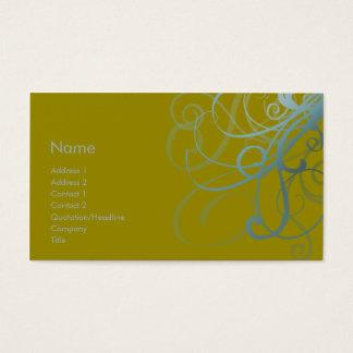 Swirls No. 0012 Business Card