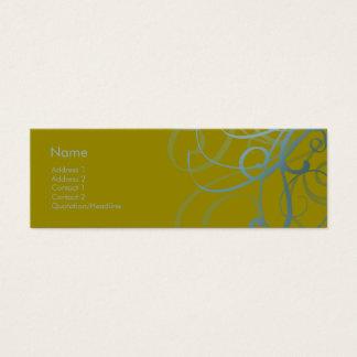 Swirls No. 0012 Mini Business Card