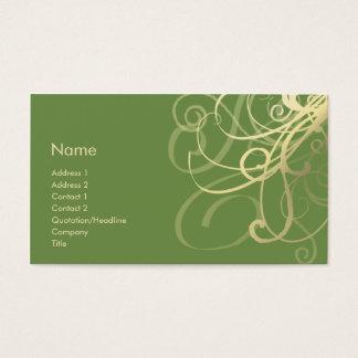 Swirls No. 0018 Business Card