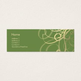 Swirls No. 0018 Mini Business Card