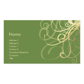 Swirls No. 0018 Pack Of Standard Business Cards
