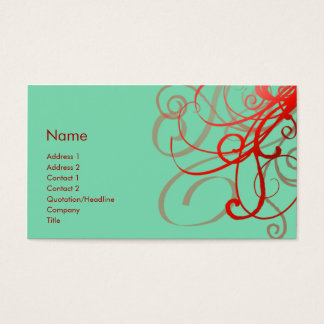 Swirls No. 0024 Business Card