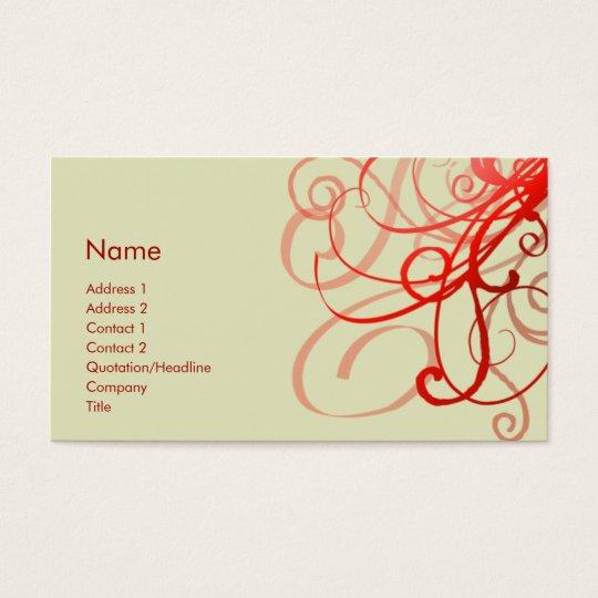 Swirls No. 0025 Business Card