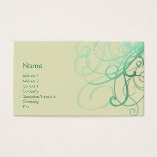 Swirls No. 0027 Business Card