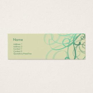 Swirls No. 0027 Mini Business Card