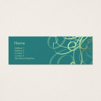 Swirls No. 0032 Mini Business Card