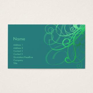 Swirls No. 0033 Business Card
