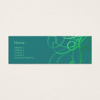 Swirls No. 0033 Mini Business Card
