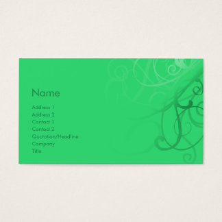 Swirls No. 0034 Business Card