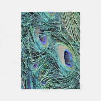 Swirls of a Peacock Fleece Blanket