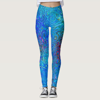 Swirls of Blue Leggings