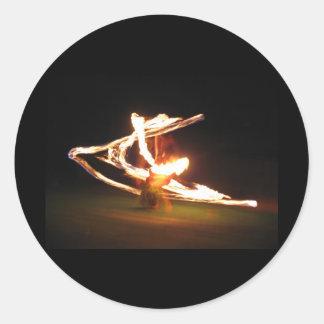 Swirls of Fire: Hawaii Fire Dance Sticker