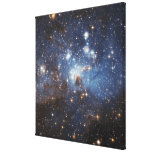 Swirls of gas and dust stretched canvas prints
