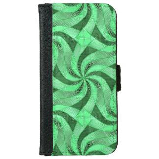 Swirls of Green iPhone 6 Wallet Case